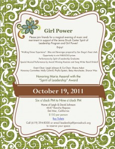 Girl Power ON LINE Invite